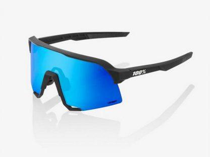 100% S3 - Matte Black - HiPER Blue Multilayer Mirror Lens