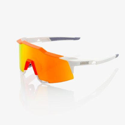 Speedcraft Soft Tact Day Glo Orange / White w/ HiPER Red Multilayer Mirror Lens