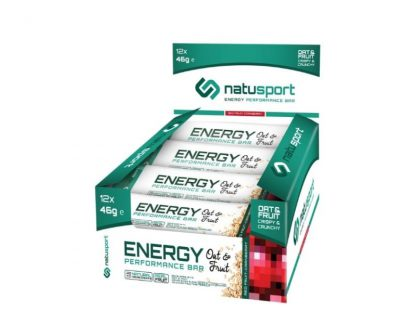 NatuSport Energy Performance Bar Red Fruit-Cranberry 12 stuks