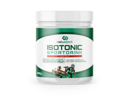 NatuSport Isotonic Sportdrink Rood Fruit 400 gram